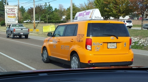 """Why are the """"Yellow"""" Cabs in Memphis really orange?"""