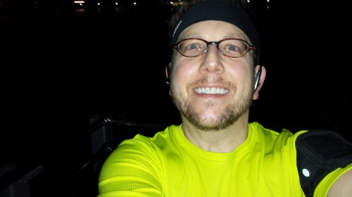 ...while I went for a nice run downtown and across the river...