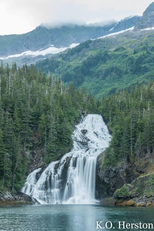 Alaskan waterfall